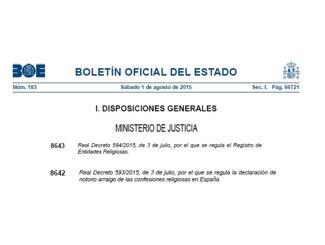 imagen del destacado El Gobierno aprueba dos reales decretos que regulan el Registro de Entidades Religiosas y el notorio arraigo